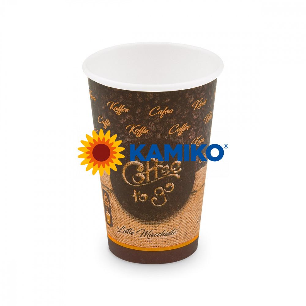 Papierový pohár ,,Coffee to go,, 330 ml, L, Ø 80 mm, 50 ks