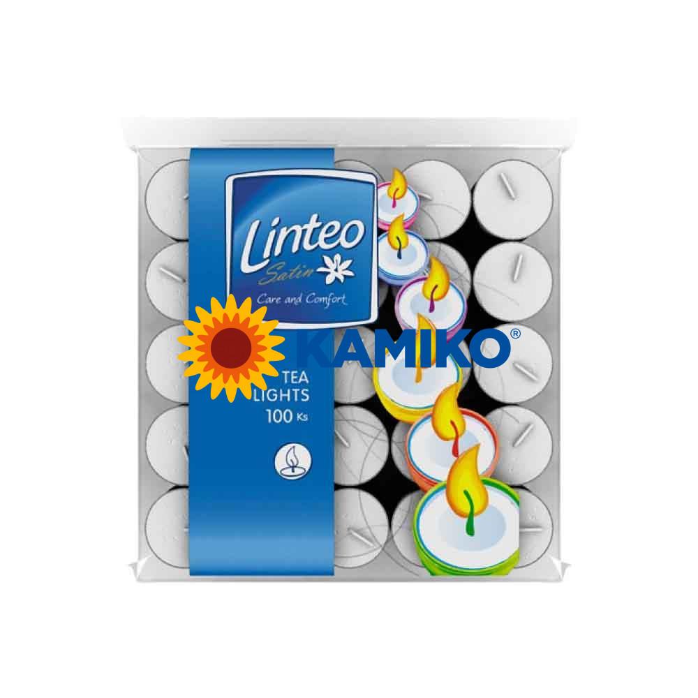 Čajová sviečka LINTEO  biela, 100 ks