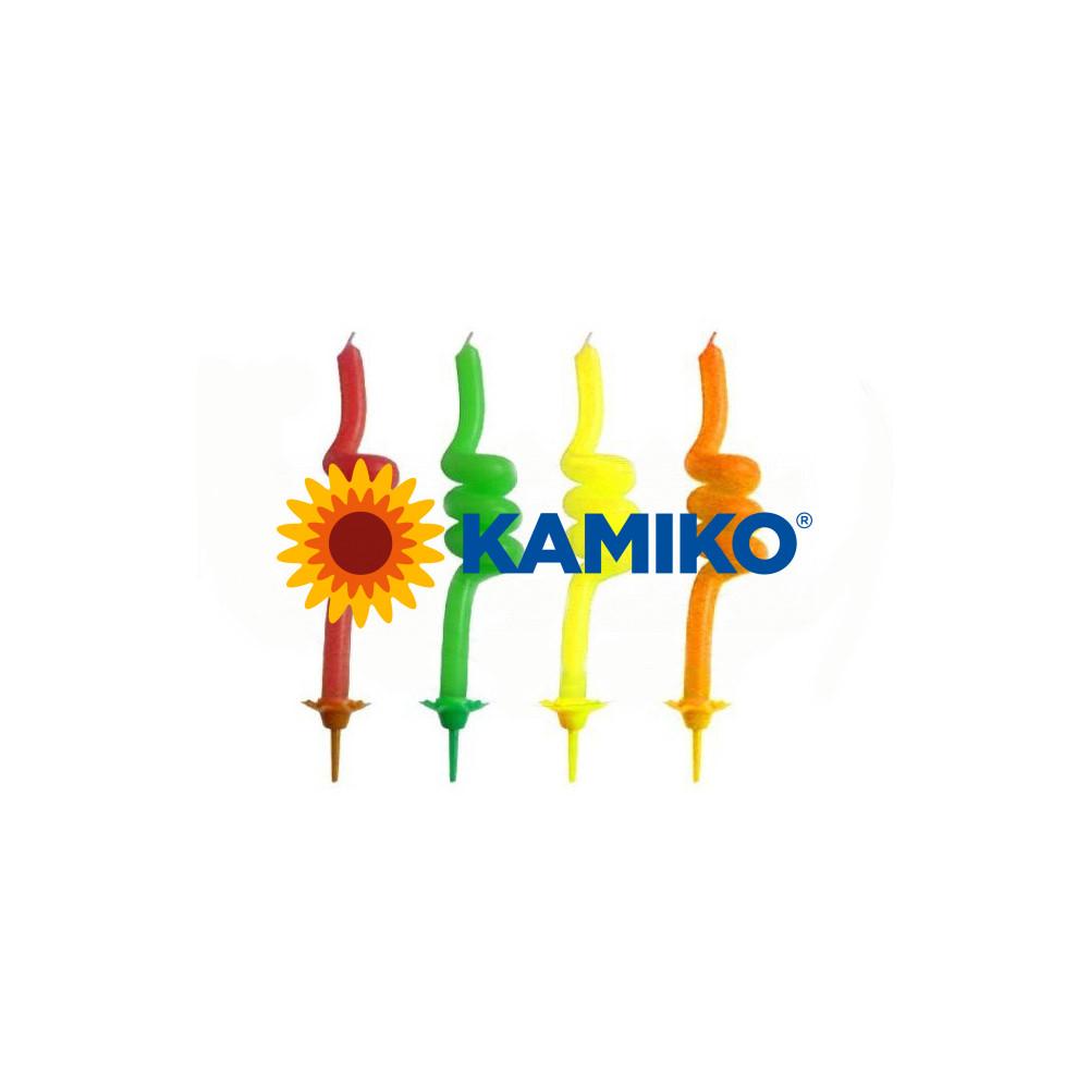Špirálové sviečky so stojančekom 85 mm, 4 ks