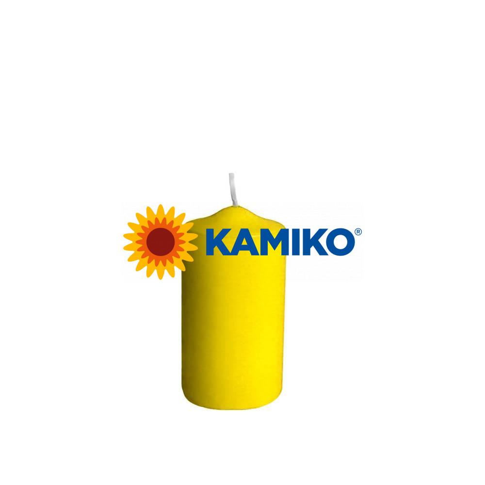 Sviečka valcová pr. 60 x 120 mm, žltá