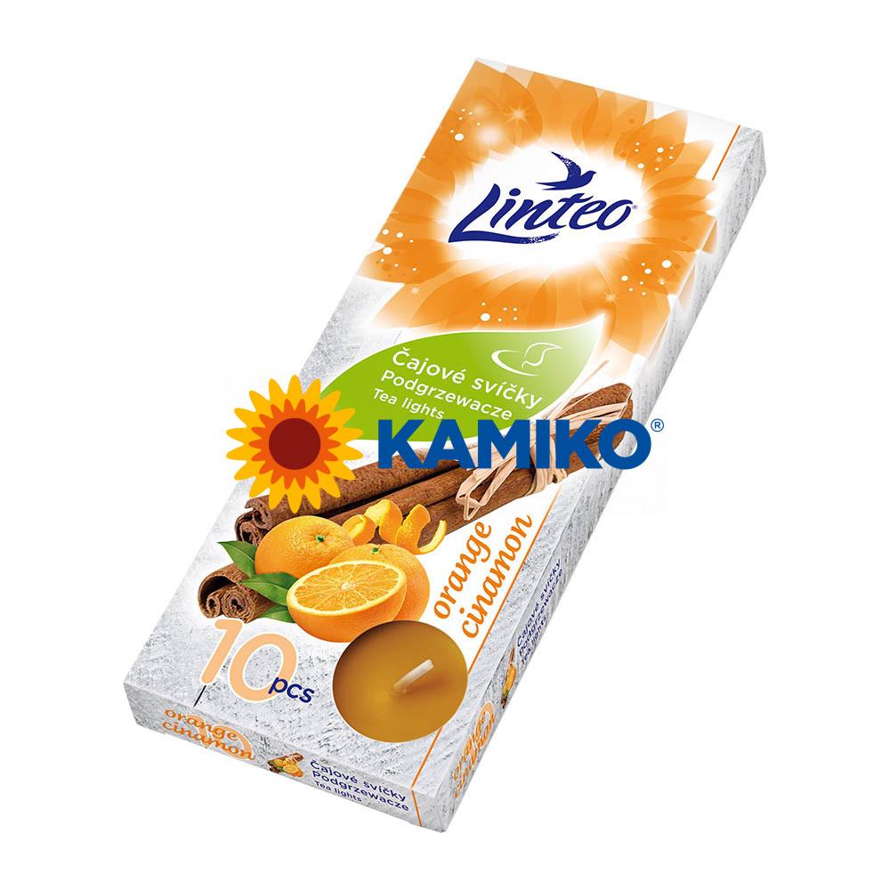 Čajová sviečka LINTEO Orange/Cinamon, 10 ks