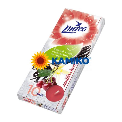 Čajová sviečka LINTEO Vanilla/Cherry, 10 ks
