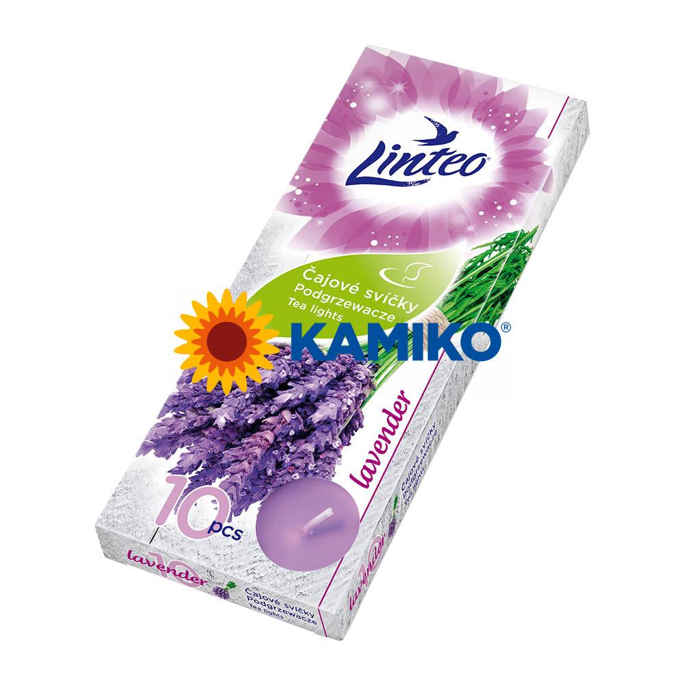 Čajová sviečka LINTEO Lavender, 10 ks