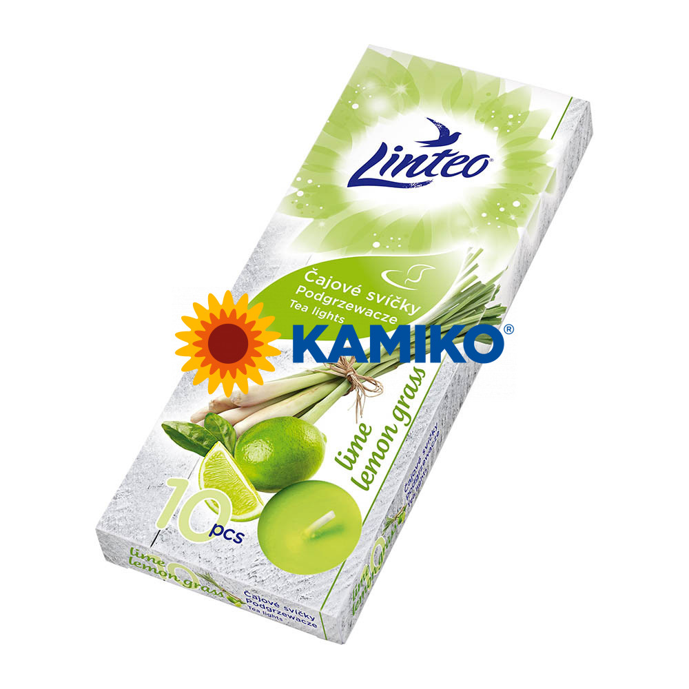 Čajová sviečka LINTEO Lime/Lemon grass, 10 ks