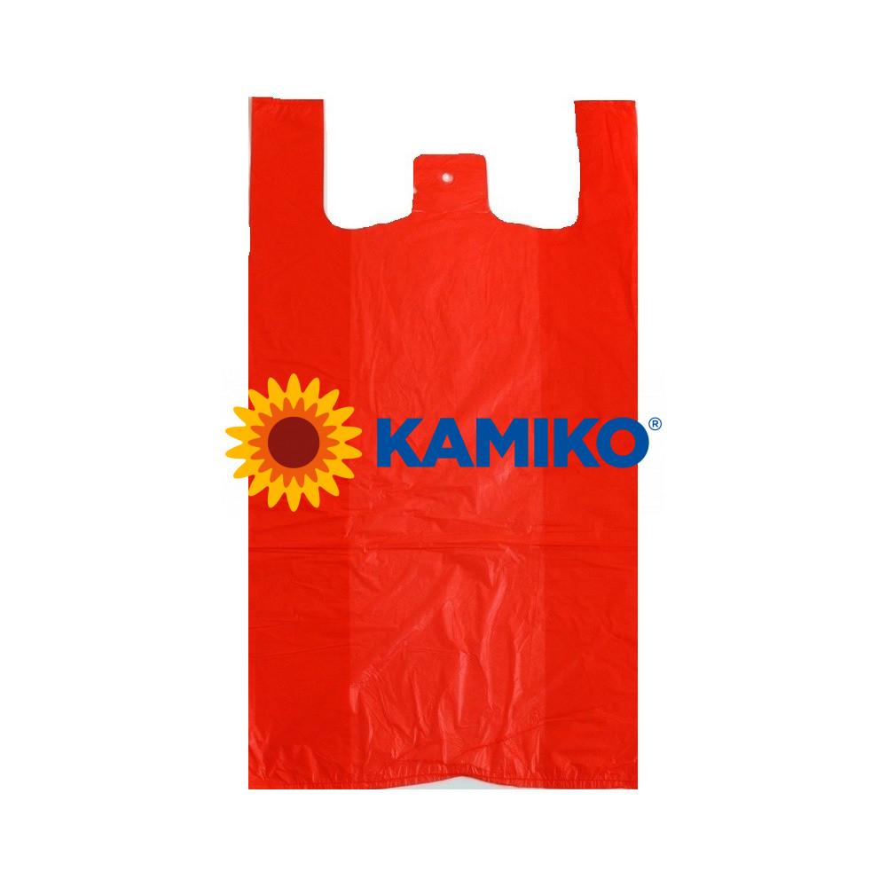 Tašky 20 kg červené 40 + 20 x 60 cm, extra silné, 50 ks - DOPREDAJ