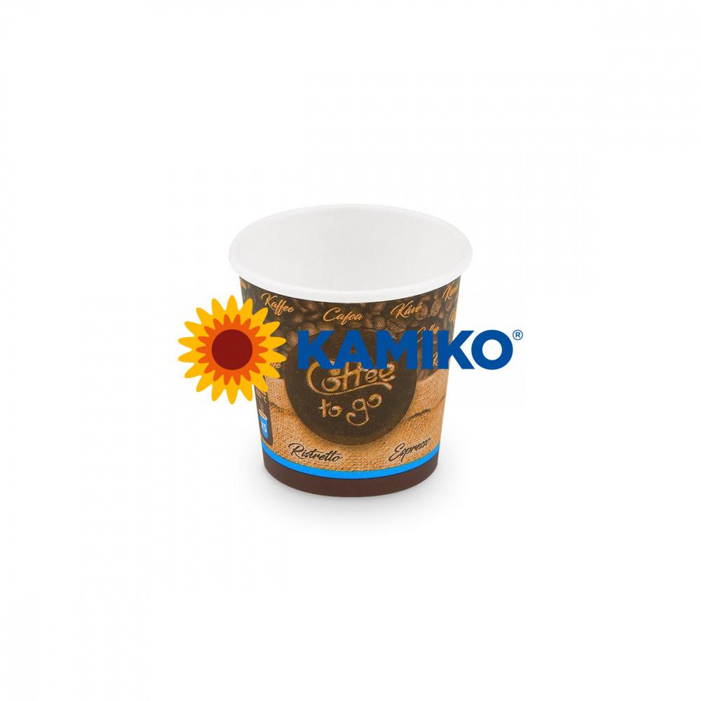 Papierový pohár ,,Coffee to go,, 110 ml, XS, Ø 62 mm, 50 ks