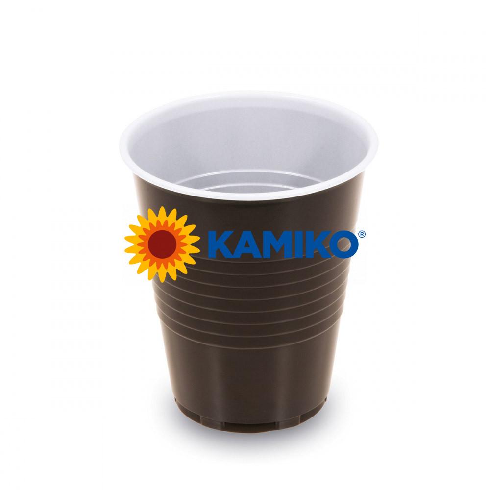 Automatový pohárik hnedo-biely 0,15 l PS Ø 70 mm, 100 ks