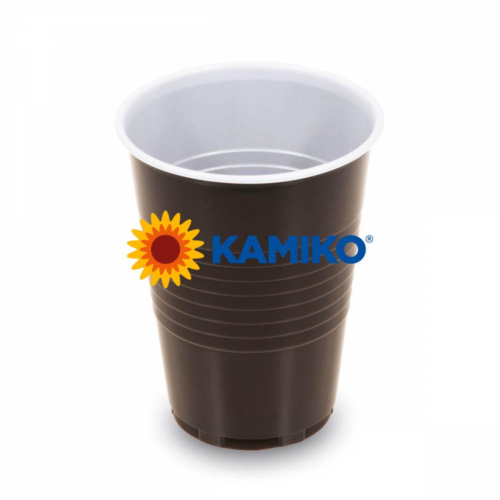 Automatový pohárik hnedo-biely 0,18 l PS Ø 70 mm, 100 ks