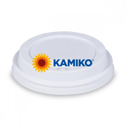 Viečko vypuklé biele pre papierové poháriky PS Ø 73 mm, 100 ks