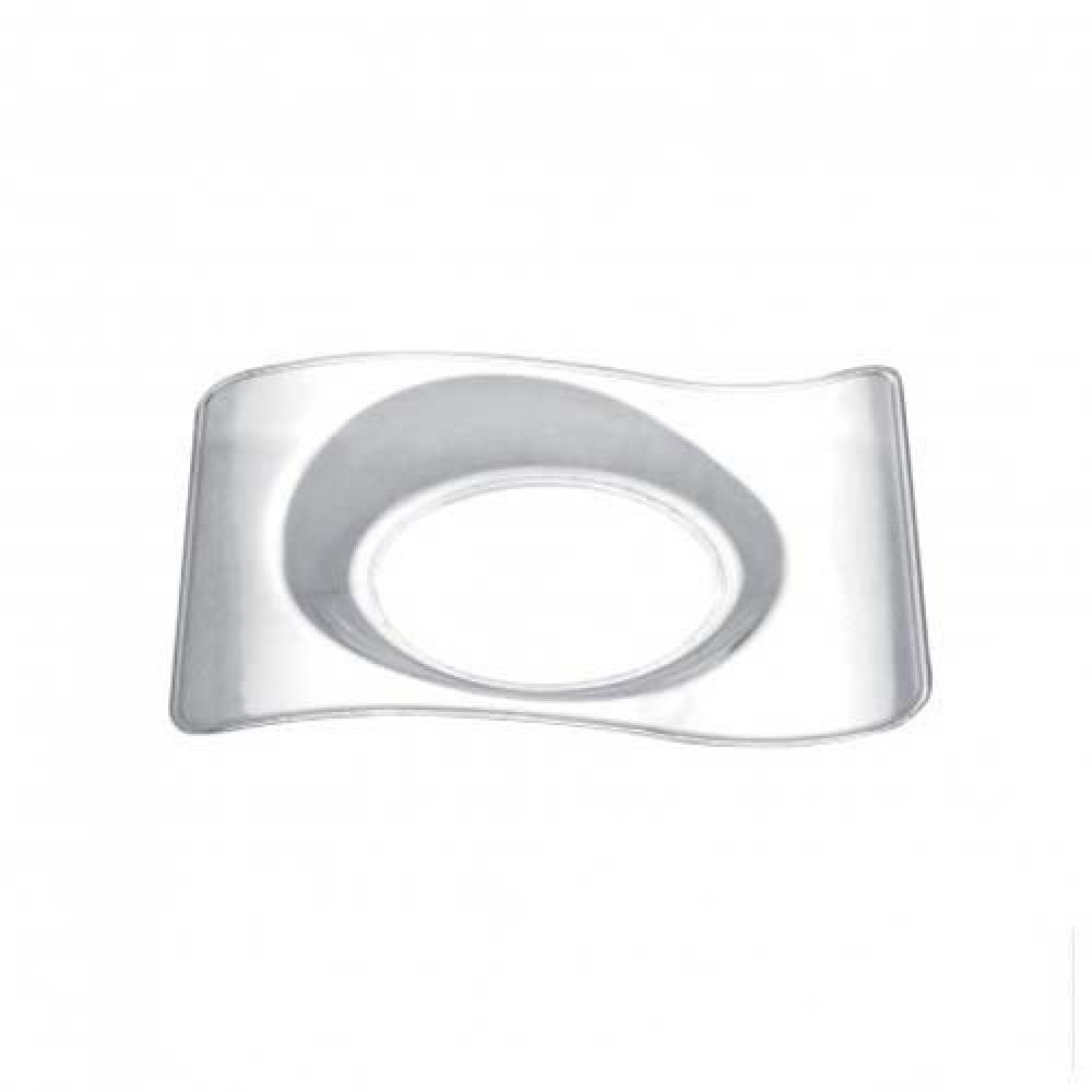 Plastový Finger Food mini tanierik FORMA 80mm, číry