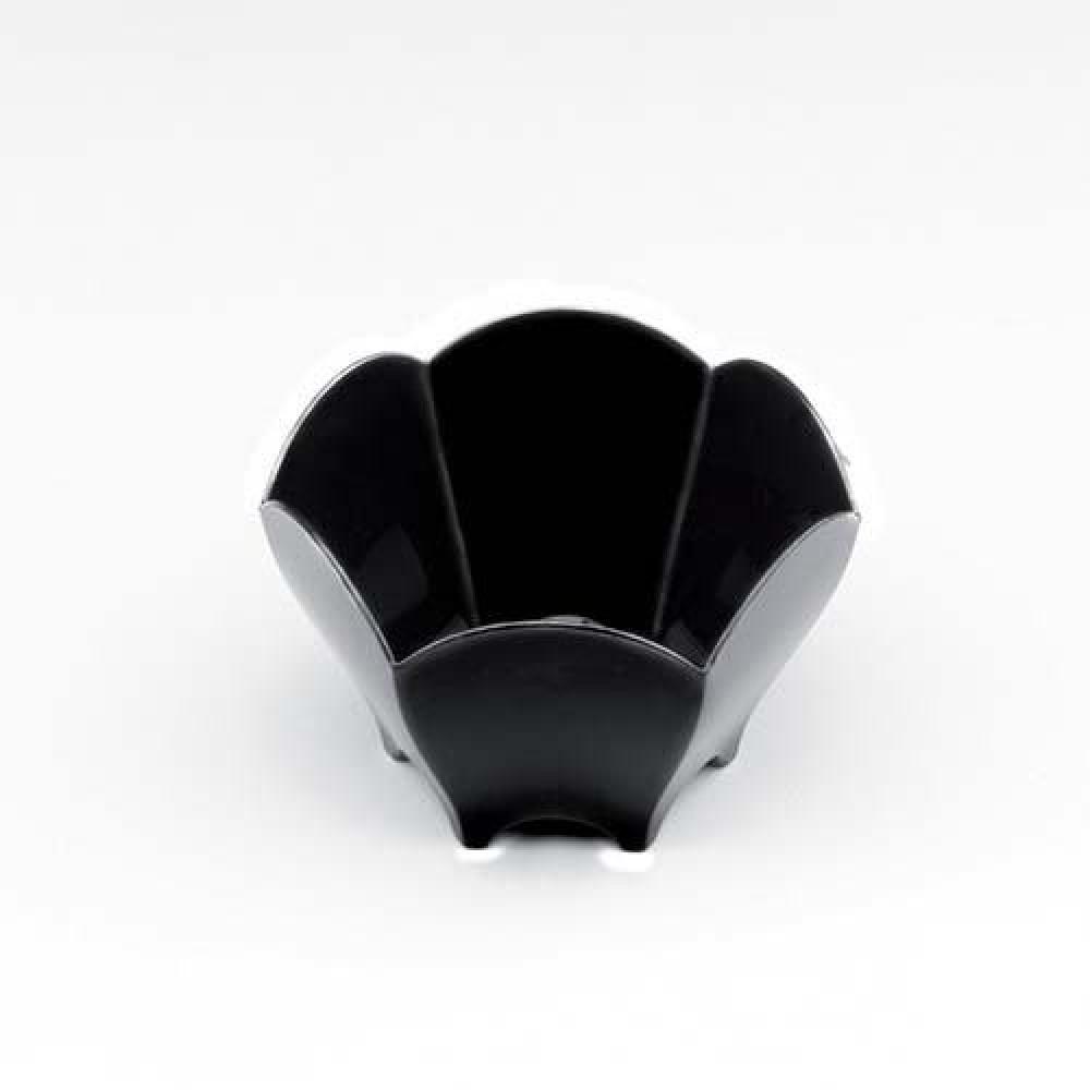 Plastová Finger Food mini miska TULIP 70ml, čierna