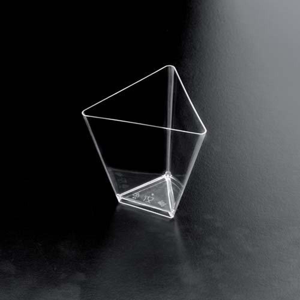 Plastová Finger Food mini miska TRIANGOLO 70ml, číra