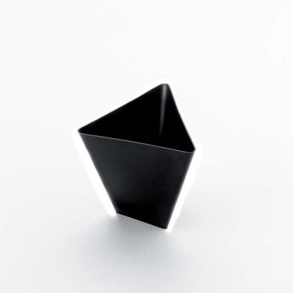 Plastová Finger Food mini miska TRIANGOLO 70ml, čierna