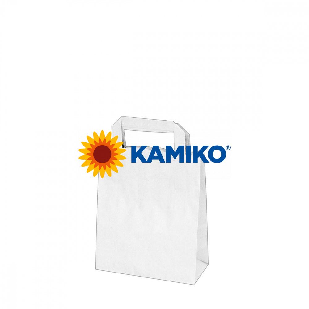 Taška papierová biela 18 x 8 x 22 cm, 50 ks