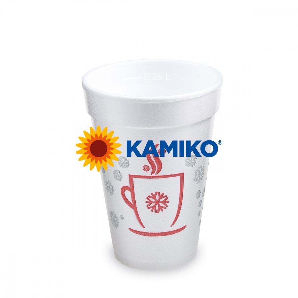 """Termo-pohár """"Zimné obdobie,, 0,25 l Ø 80 mm, 20 ks"""