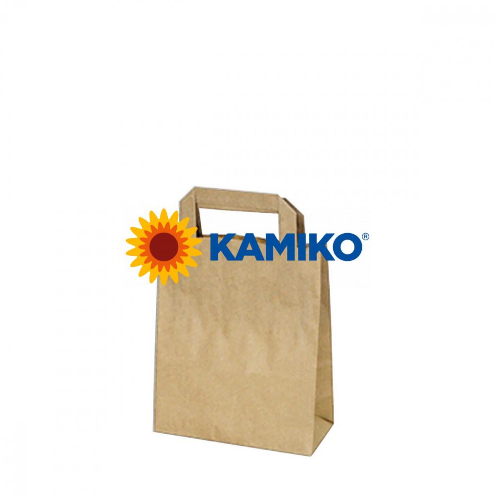 Taška papierová hnedá 18 x 8 x 22 cm, 50 ks
