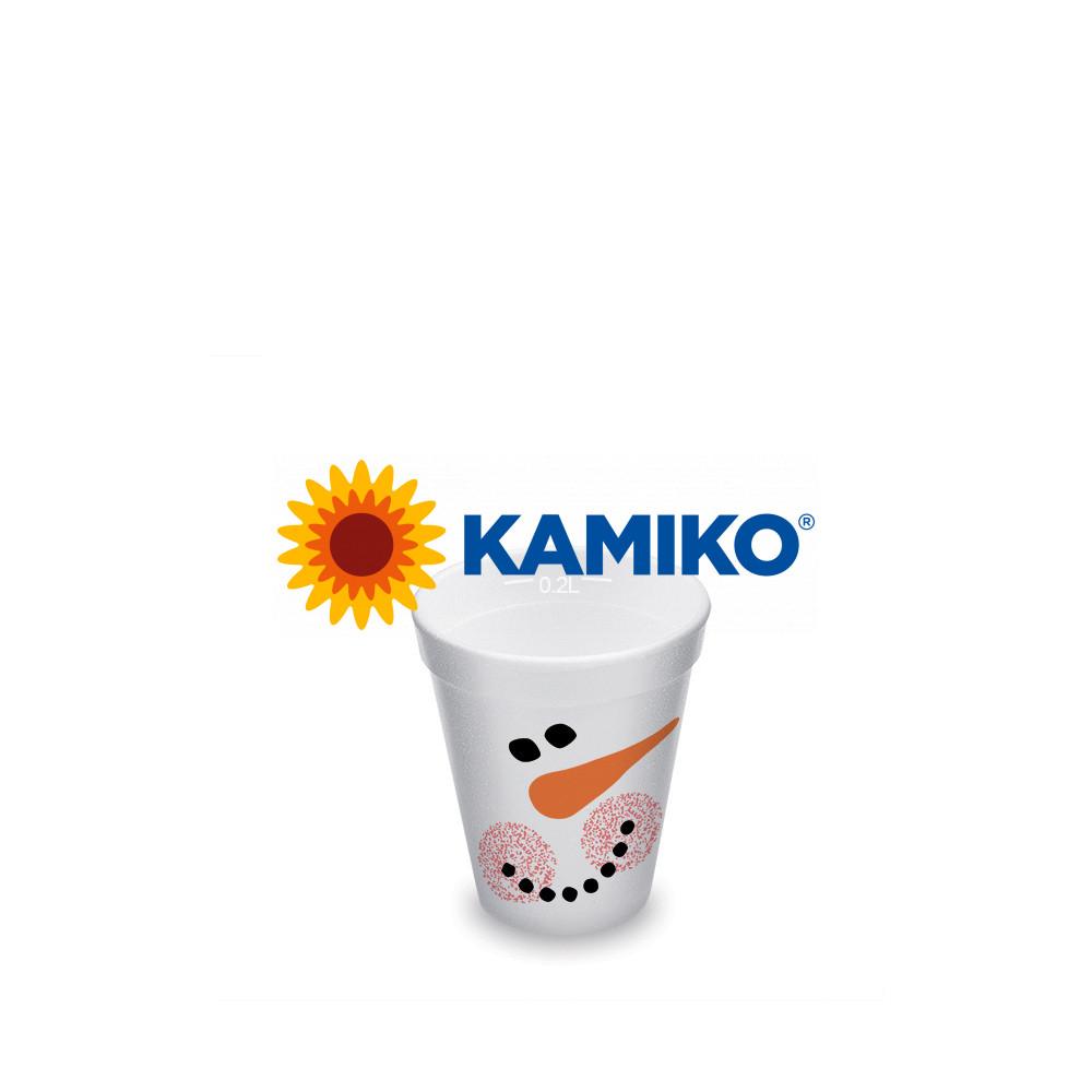 Termo-pohár ,,Snehuliak,, 0,2 l Ø 80 mm, 25 ks