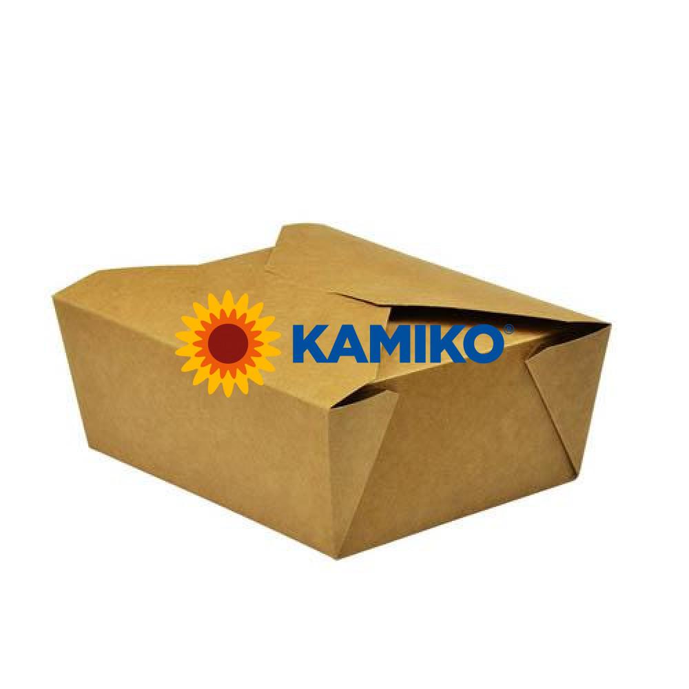 Kraft box na jedlo 1300 ml, 50 ks/balenie