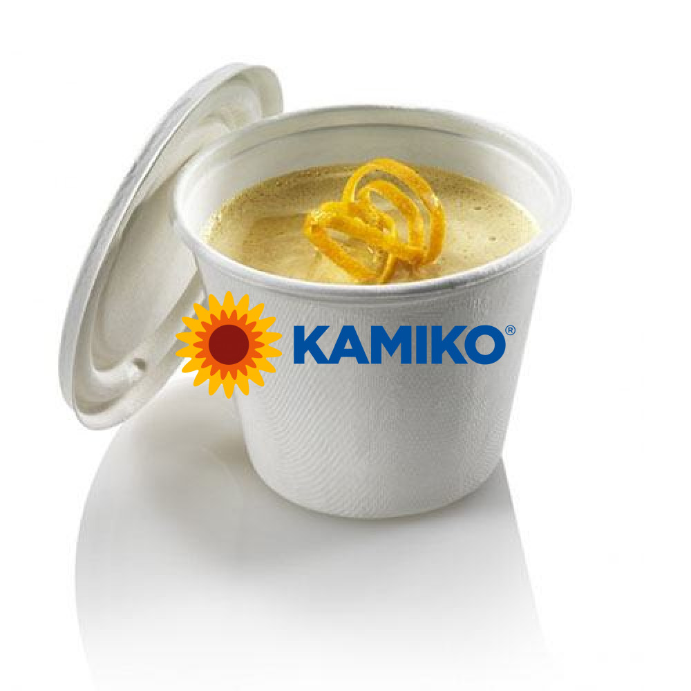 Miska na polievku s viečkom BIO cukrová trstina 425 ml, 25 ks/balenie