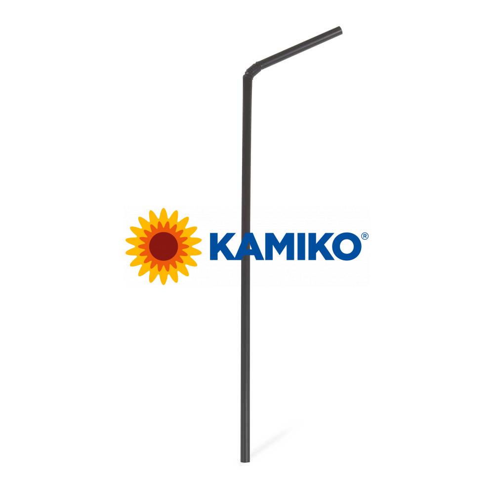 Slamky flexibilné čierne BIO Ø 5 mm x 24 cm, 250 ks