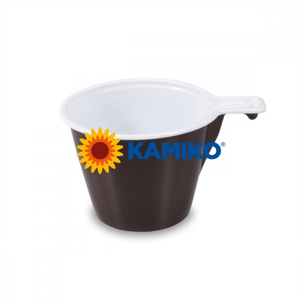 Šálka na kávu hnedo-biela 0,17 l, 60 ks