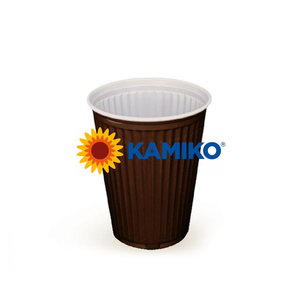 Automatový termo pohárik hnedo-biely 0,15 l PS Ø 70 mm, 100 ks