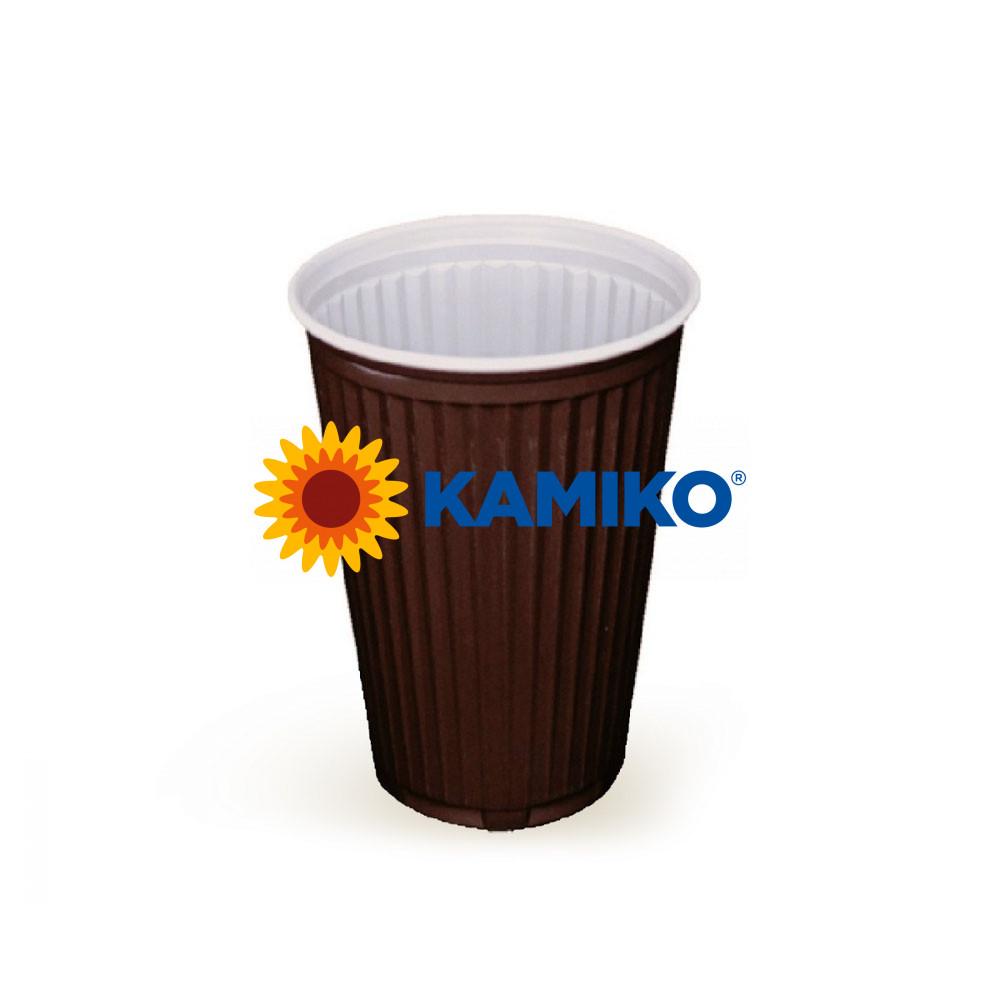 Automatový termo pohárik hnedo-biely 0,18 l PS Ø 70 mm, 100 ks