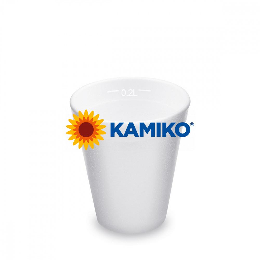 Termo-pohár biely z penového PS 0,2 l Ø 80 mm, 25 ks
