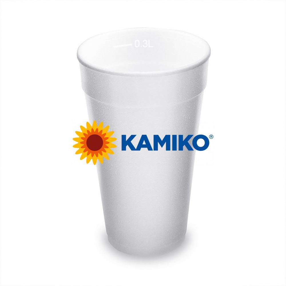 Termo-pohár biely z penového PS 0,3 l Ø 80 mm, 20 ks