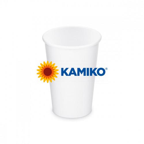 Papierový pohár biely, 330 ml, L, Ø 80 mm, 50 ks