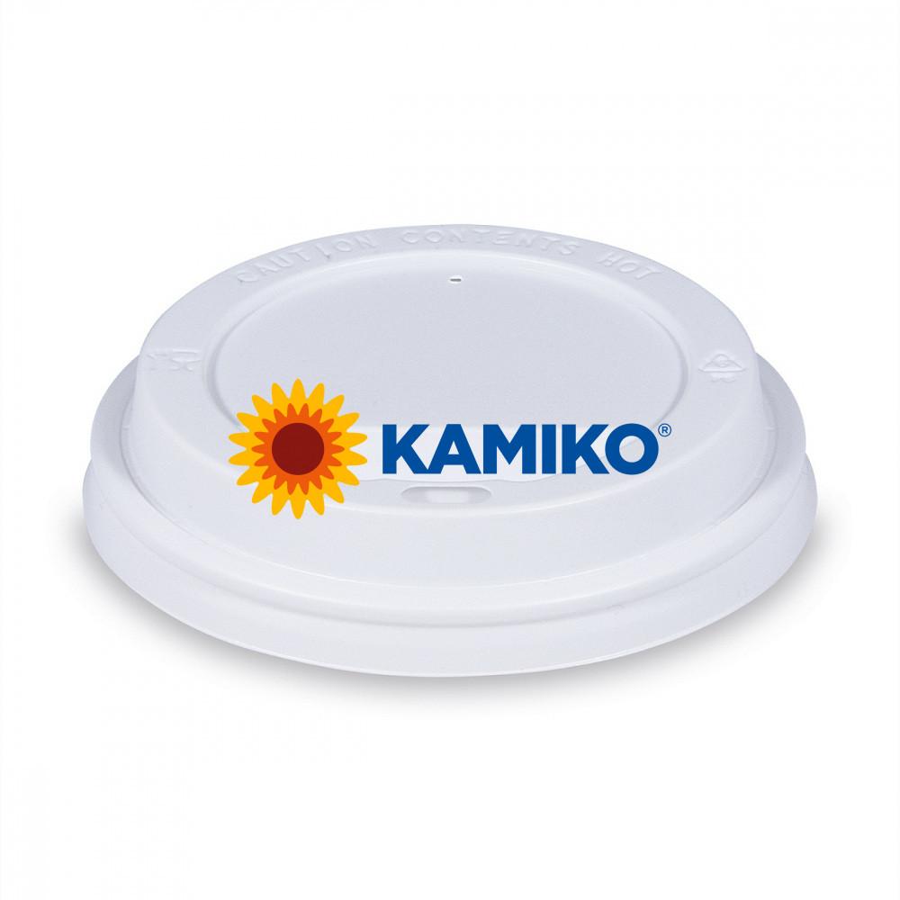 Viečko vypuklé biele pre papierové a termo poháriky PS Ø 90 mm, 100 ks