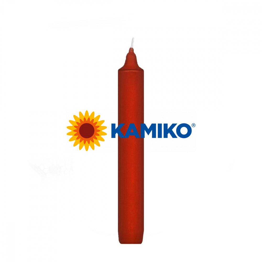 Sviečka rovná pr. 22 x 170 mm, červená, 20 ks