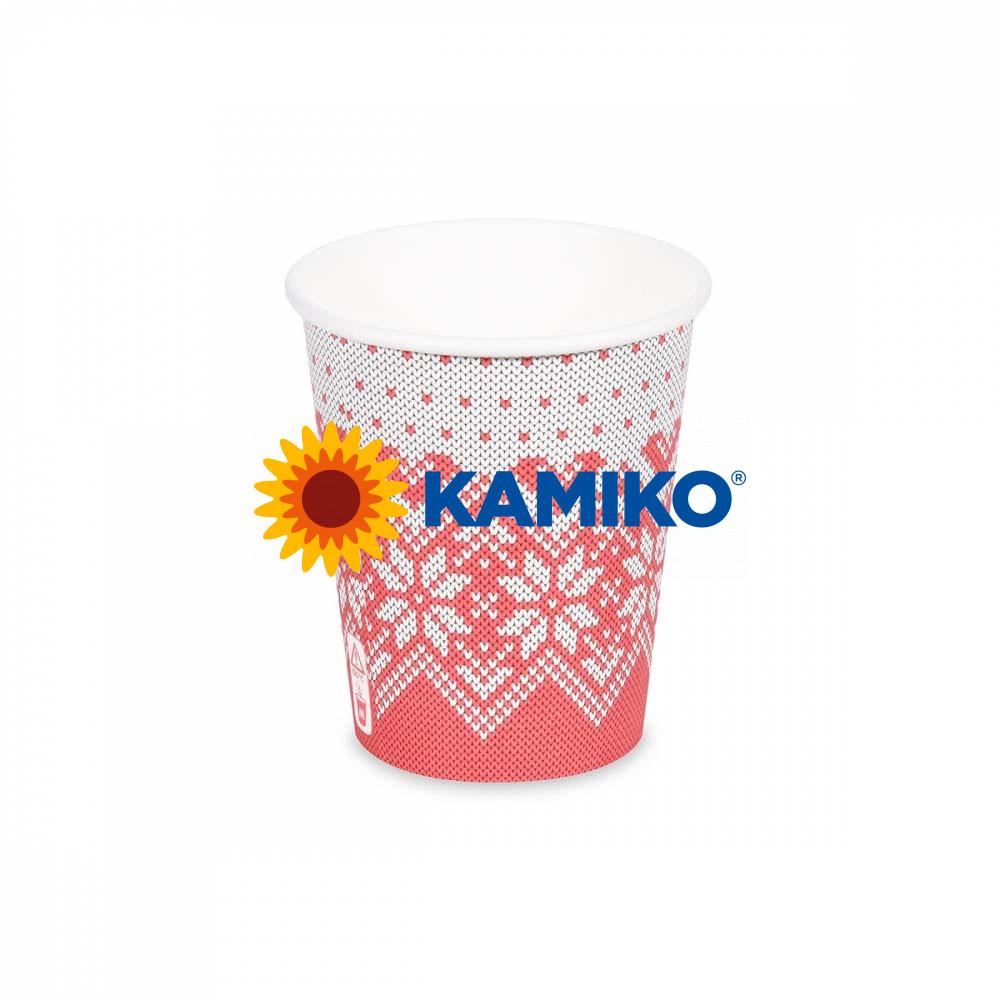 Papierový pohár ,,Zimné obdobie,, 280 ml, M, Ø 80 mm, 50 ks