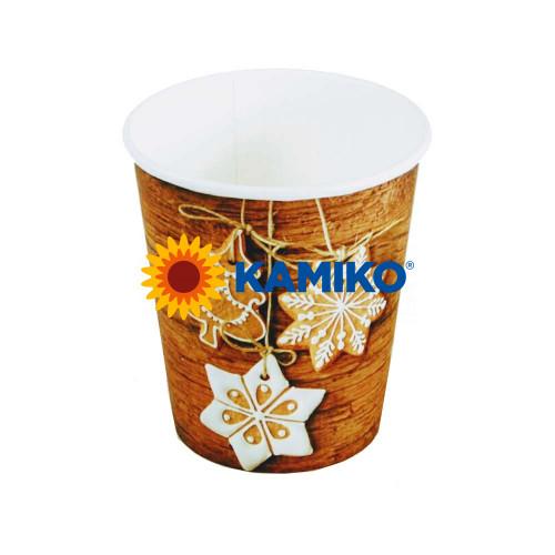 """Papierový pohár """"Vianoce"""", 280 ml, M, Ø 80 mm, 50 ks"""
