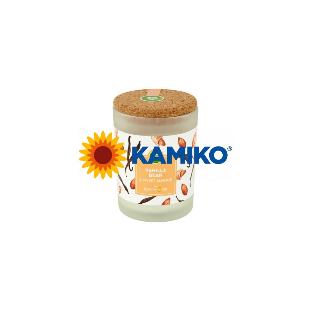 Sviečka Air Wick Essential Oils Vanilla Bean & Sweet Almond, 185 g