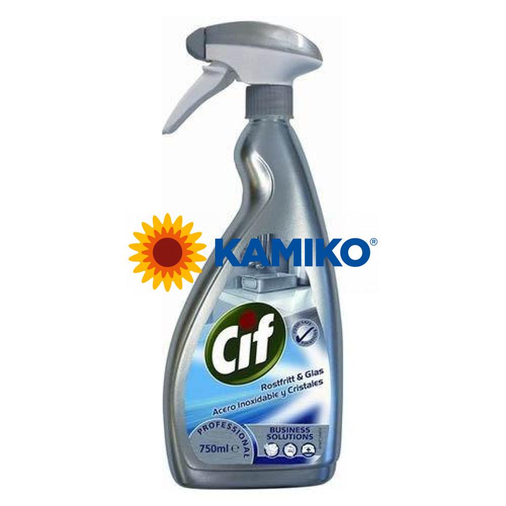 CIF PROFESSIOANAL CLEANER750ml na nerez, mechanický rozprašovač