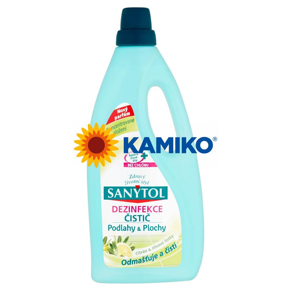 Sanytol čistič na podlahy a plochy citrus a olivové lístky 1000 ml
