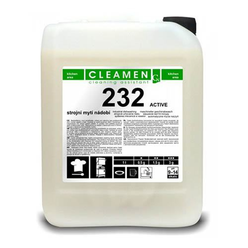 CLEAMEN ACTIVE 232, 6kg, profesionálny umývací prostriedok do umývačky