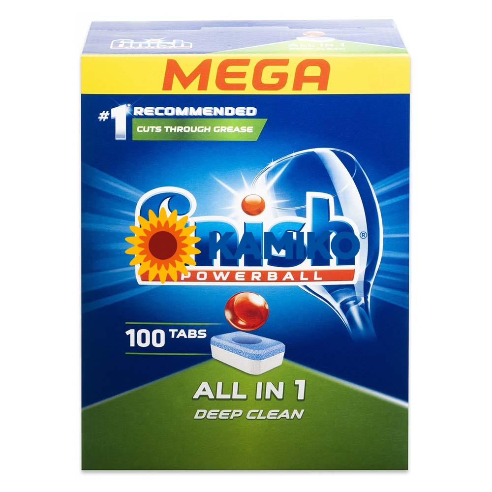 Tablety do umývačiek riadu CALGONIT FINISH All in 1, 100 ks