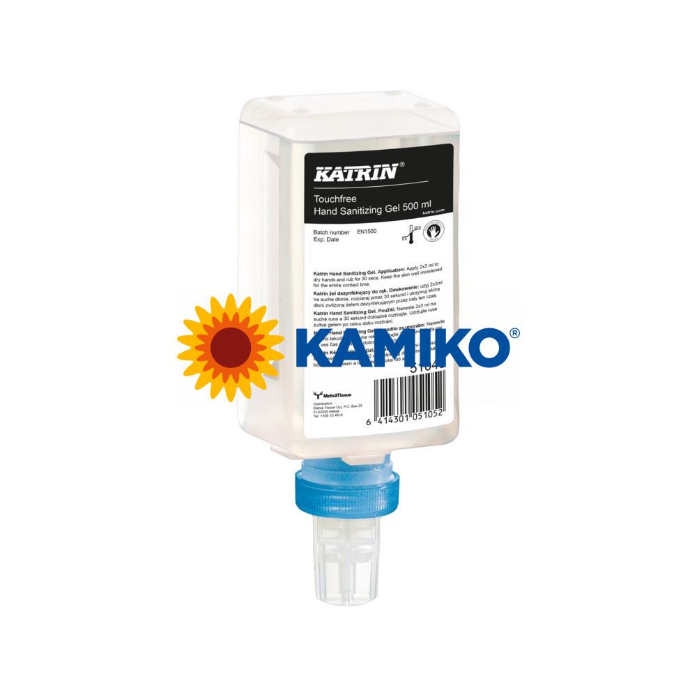 Dezinfekčný bezoplachový gél KATRIN 500 ml,  s alkoholom, patróna