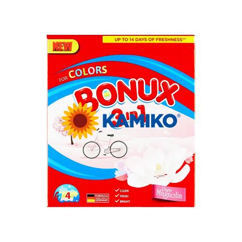 Prášok na pranie BONUX 3v1 Pure Magnólia, 300 g/4 PD na farebnú bielizeň