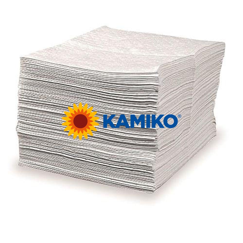 Netkaná textília SORBENT, 1 hrubá vrstva, 50x40cm, 100ks/balík, biela, absorbčná schopnosť 80 litrov