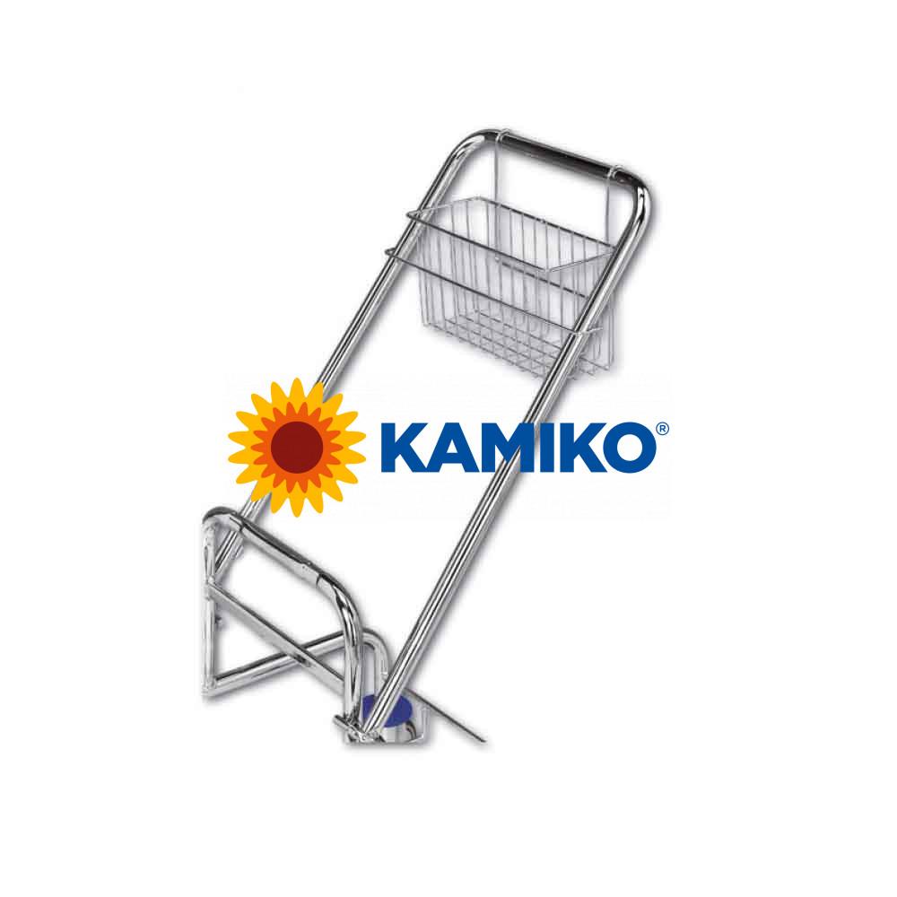Košík pre upratovacie vozíky CHROMWET - na rukoväť, chrómový