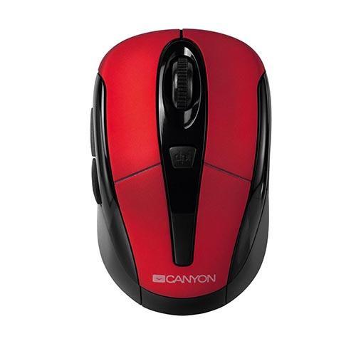 Bezdrôtová optická myš Canyon CNR-MSOW06B USB červená