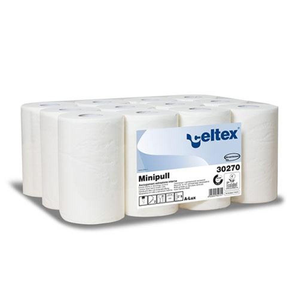 Papierová rolka 2vr CELTEX MINI PULL 72m, biela