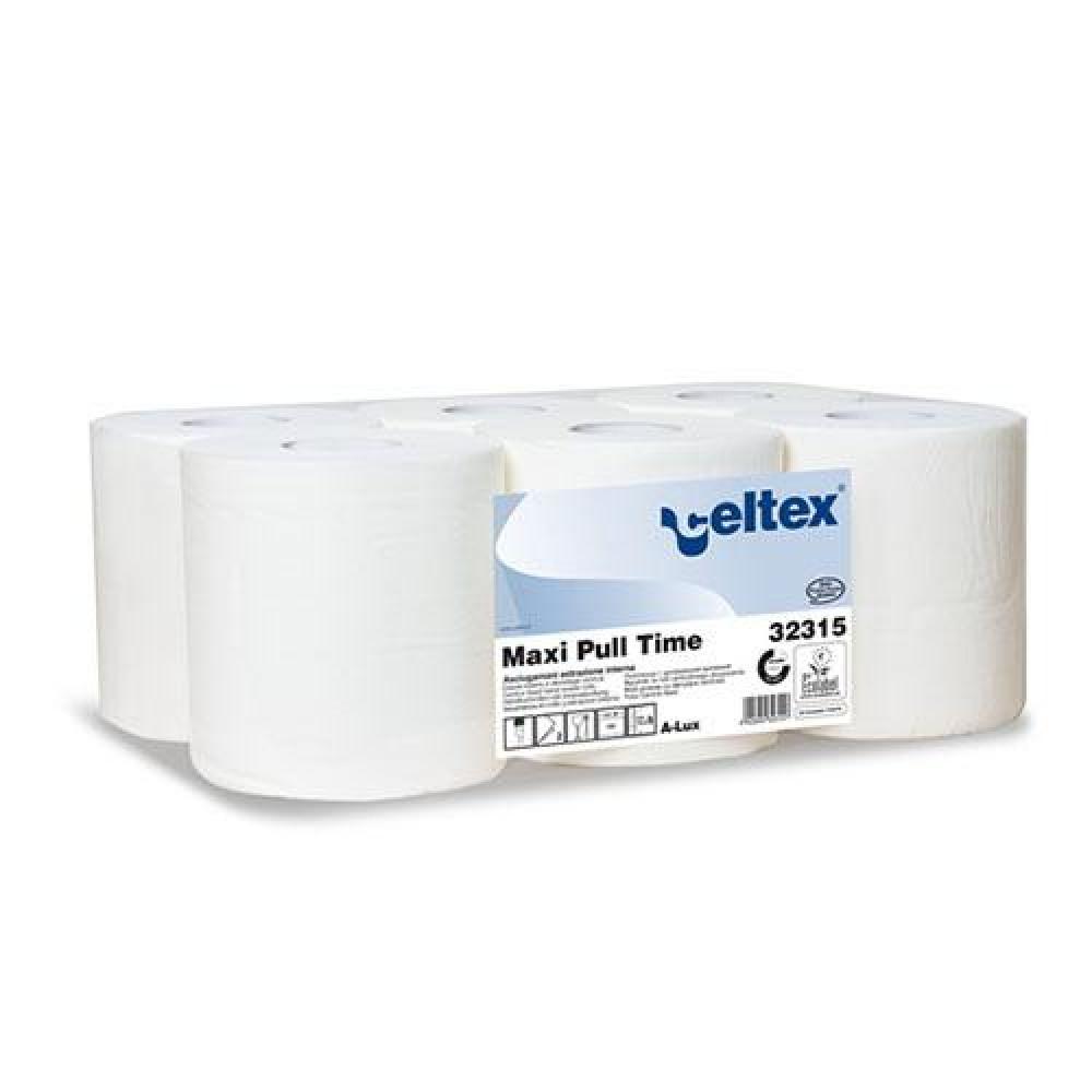 Papierová rolka 2vr CELTEX MAXI PULL 135m, biela