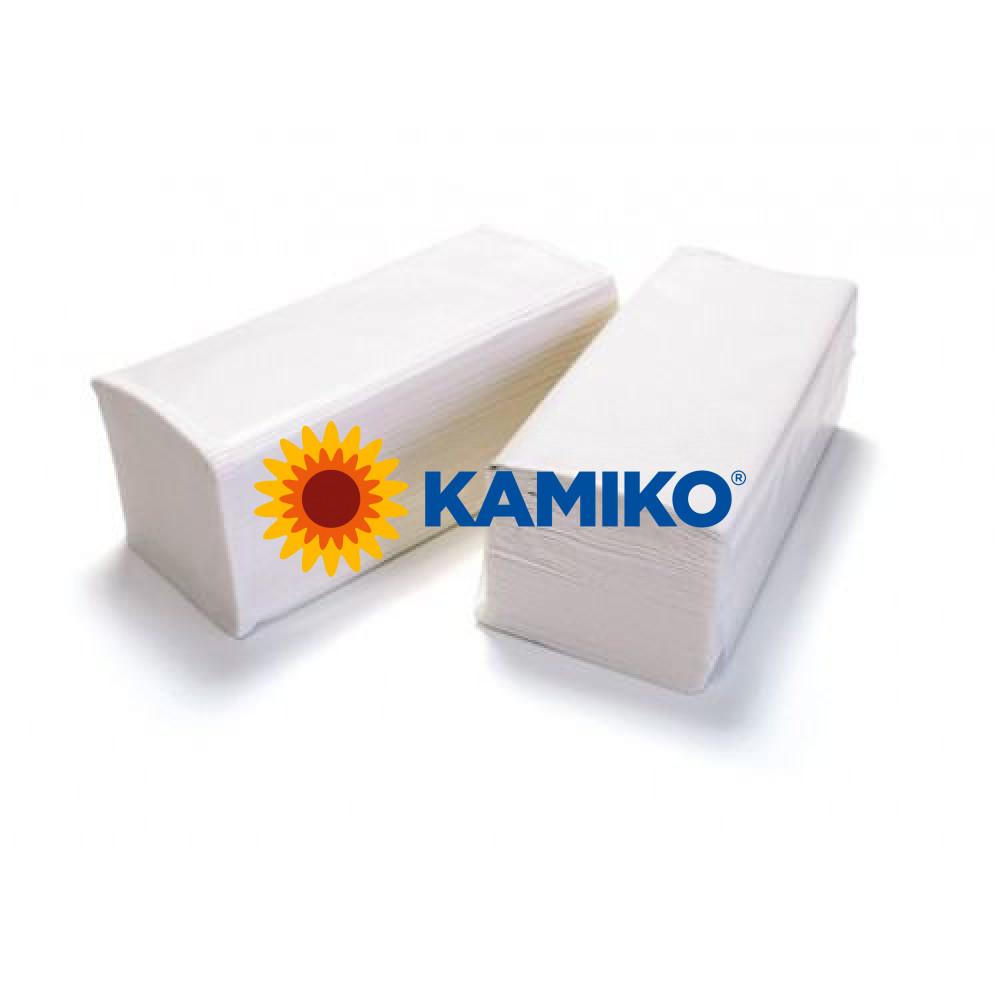Uteráky skladané 2vr KAMIKO V celulóza biele