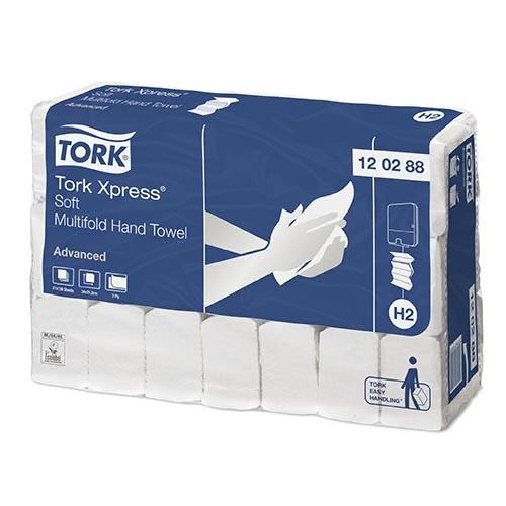 Uteráky skladané 2vr TORK M SOFT ADVANCED biele