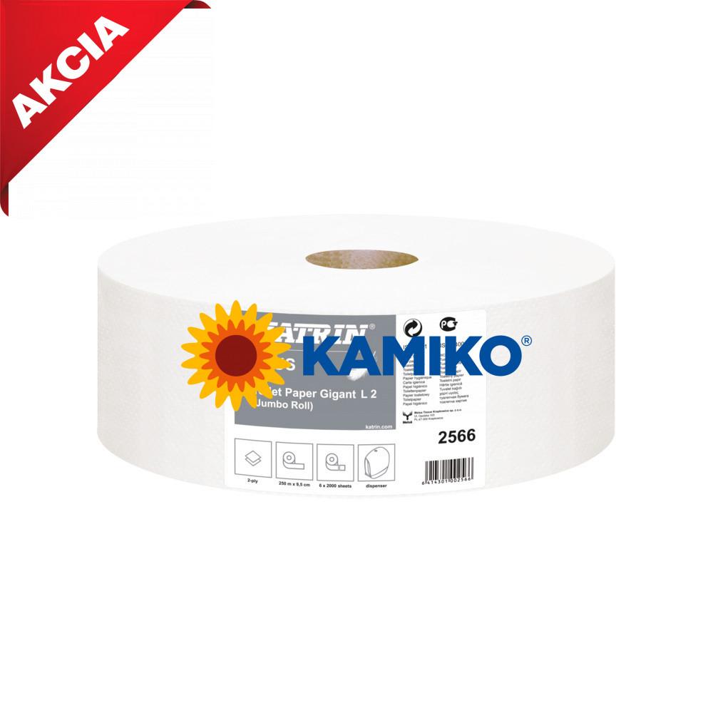 Toaletný papier 2vr Jumbo KATRIN  28 cm, biely