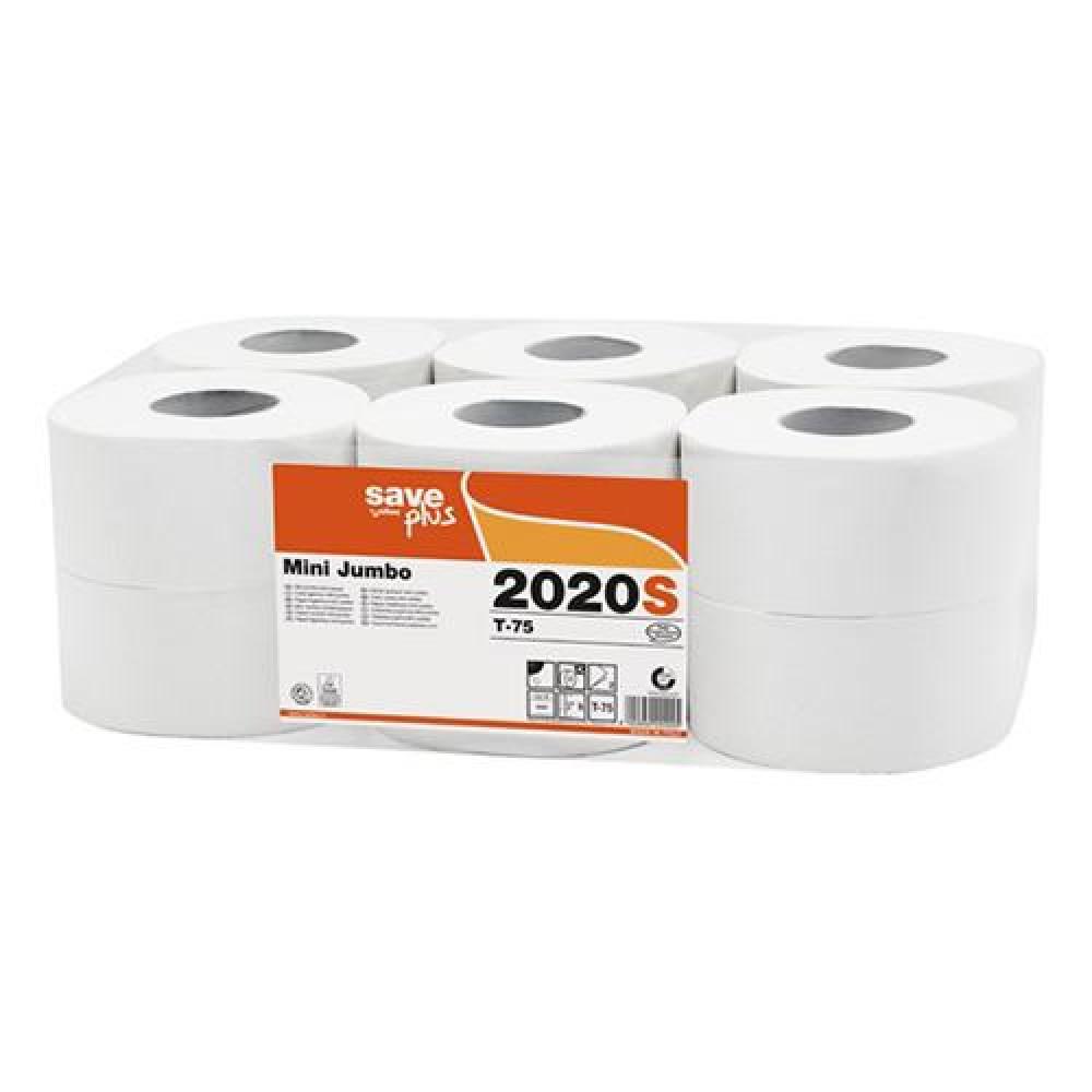 Toaletný papier 2vr Jumbo SAVE LONG 19 cm, biely